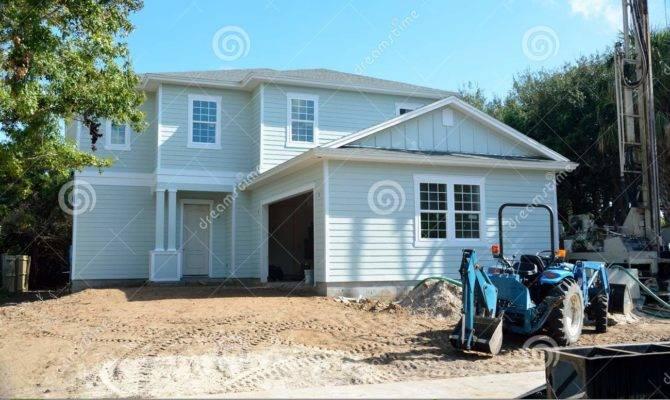 Beach House Under Construction