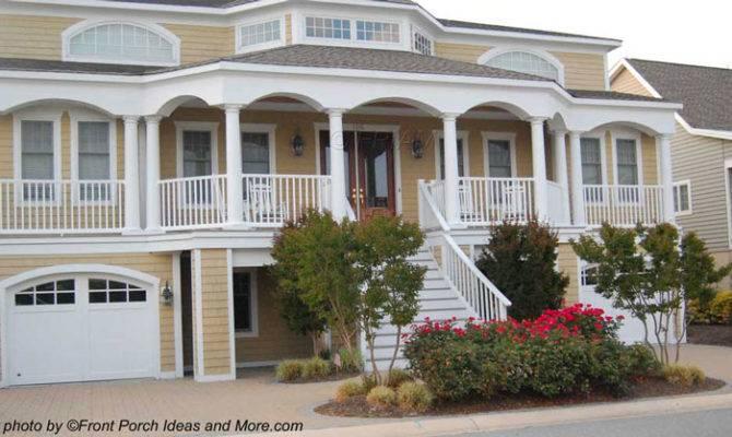 Beach Houses Coastal Front Porch