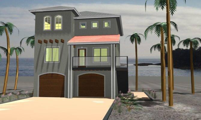 Beach Style House Plan Beds Baths