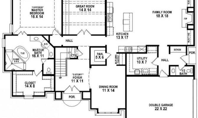 Beautiful Bedroom Bath House Plan