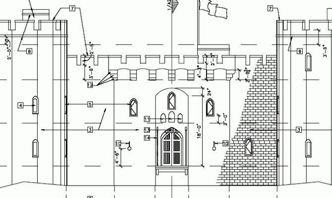 Beautiful Castle Plans Blueprints Home Building