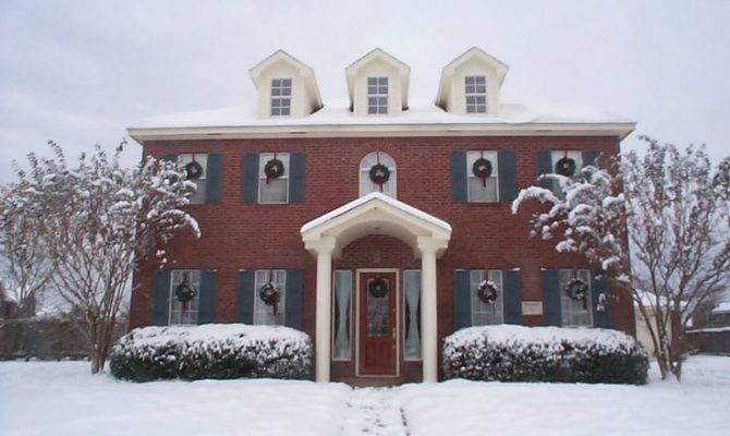 Beautiful Colonial Home Winter Homes Pinterest