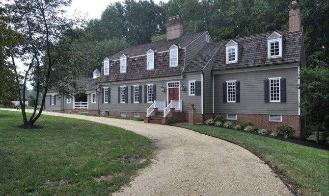 Beautiful Colonial Style Home Exterior Pinterest