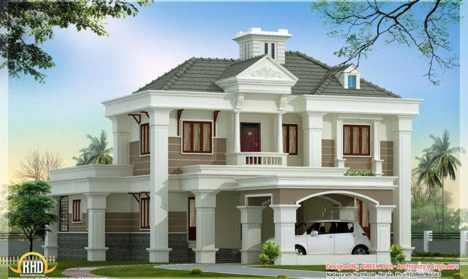 Beautiful Double Floor Home Design Kerala