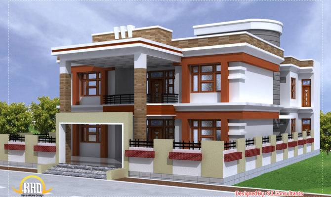 Beautiful Double Story House Square