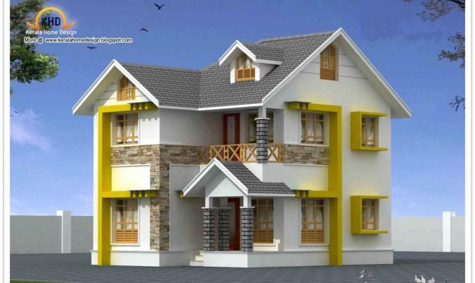 Beautiful Duplex House Elevation Kerala