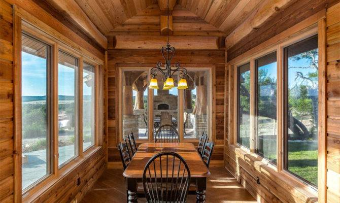Beautiful Log Cabin Dining Room Ideas Home Living