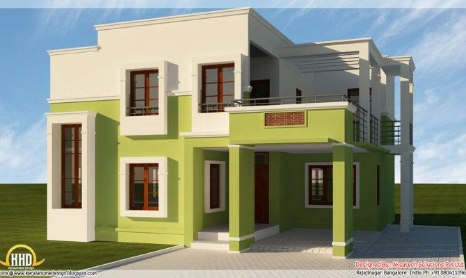 Beautiful Modern Contemporary House Renderings Kerala Home