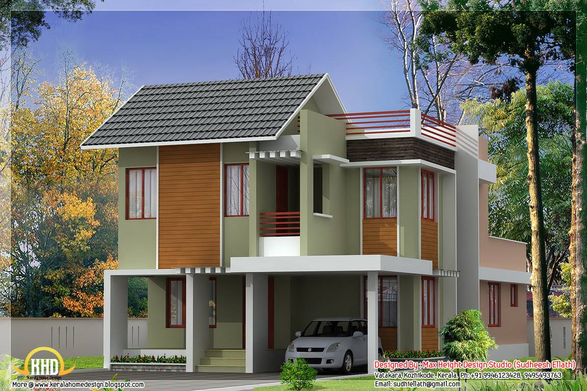 Beautiful Modern Home Elevations Kerala Design Floor Plans