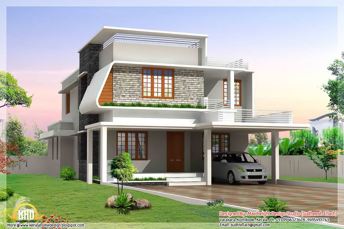 Beautiful Modern Home Elevations Kerala Design