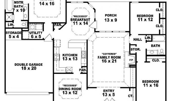Beautiful One Story Country House Plans Single