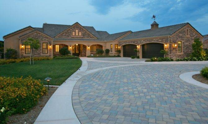 Beautiful One Story Luxury Homes Home Building Plans