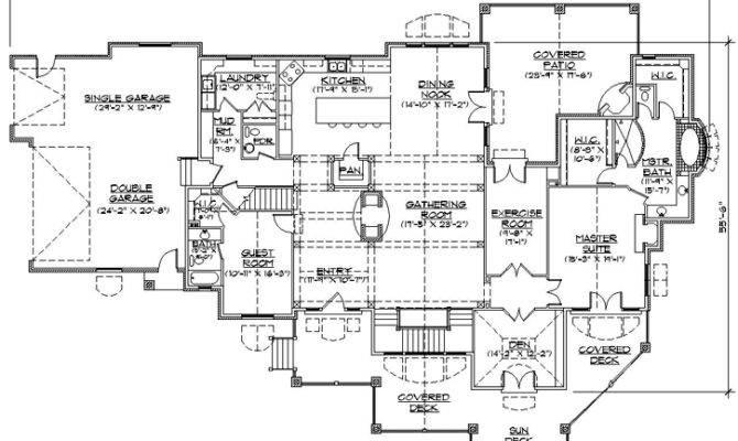 Beautiful Single Story Luxury House Plans
