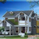 Beautiful Sloping Roof House Design Kerala Home