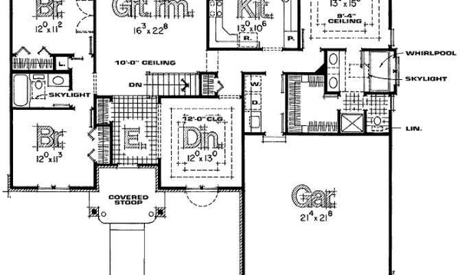 Beautiful Split Bedroom Floor Plans Hall Kitchen