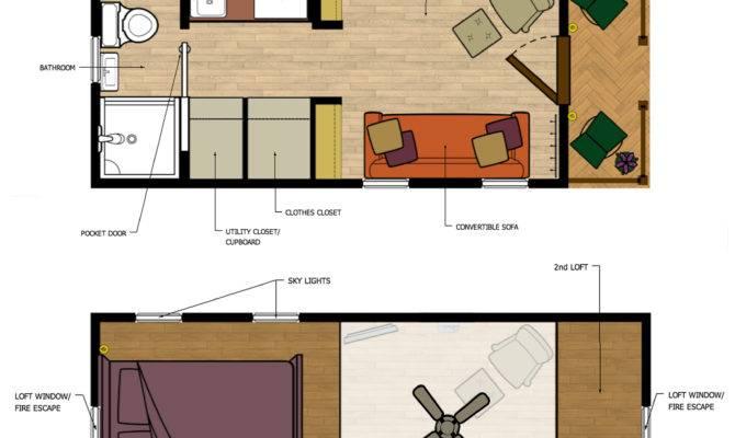 Beautiful Tiny Homes Plans Loft House Floor