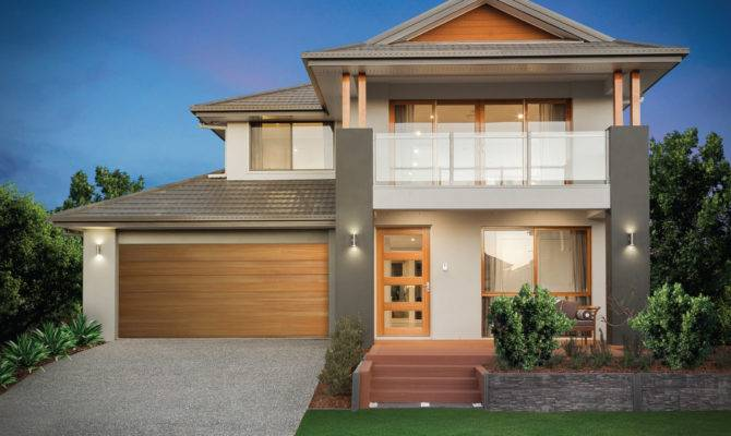 Beautiful Two Story House Balcony Double Storey