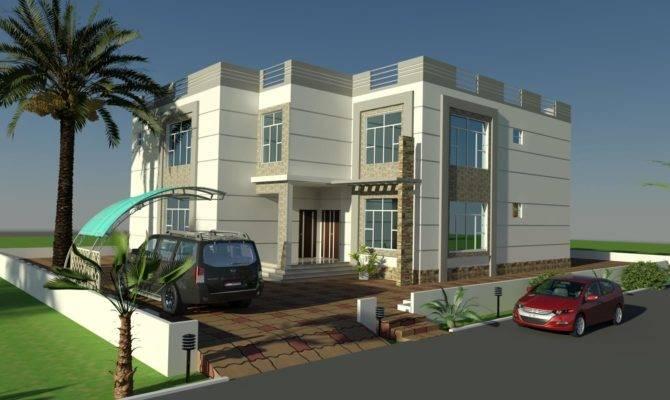 Beautiful Villa Front Elevation Design Residential Exterior