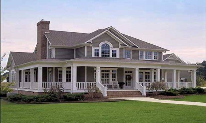 Beauty Country Style House Plans Wrap Around Porches