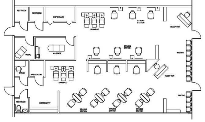 Beauty Salon Floor Plan Design Layout Square Foot House