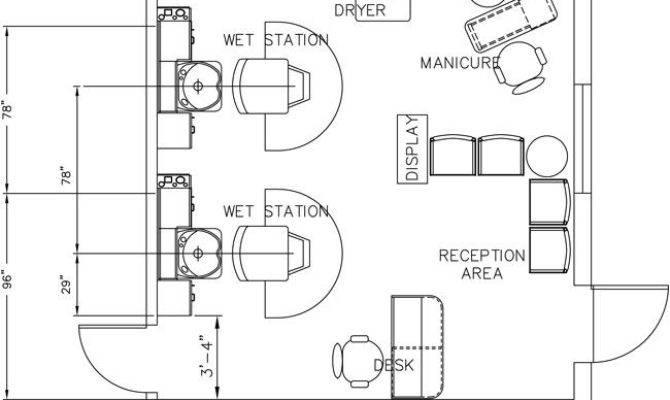 Beauty Salon Floor Plan Design Layout Square Foot