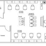 Beauty Salon Floor Plan Design Layout Square Foot