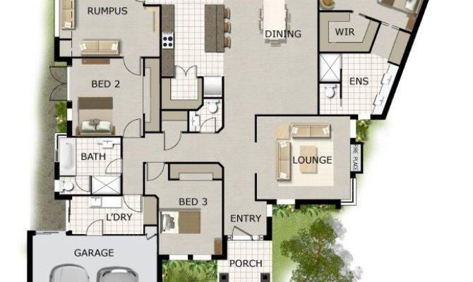 Bed Corner Block House Floor Plan