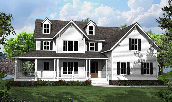 Bed Country House Plan Shaped Porch