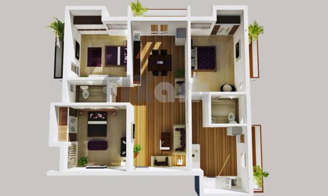 Bedroom Apartment Floor Plans Fixarh Get