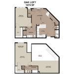 Bedroom Apartment Floor Plans Lofts Worthington