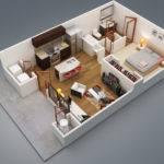 Bedroom Apartment Patio