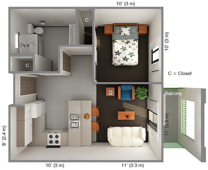 Bedroom Apartments