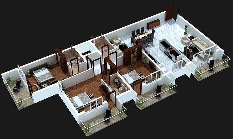 Bedroom Balcony House Plans