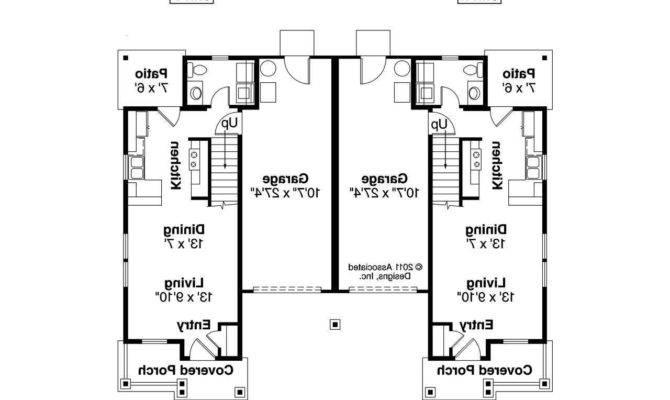Bedroom Bath Duplex Floor Plans Two One