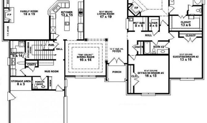 Bedroom Bath House Plan Plans