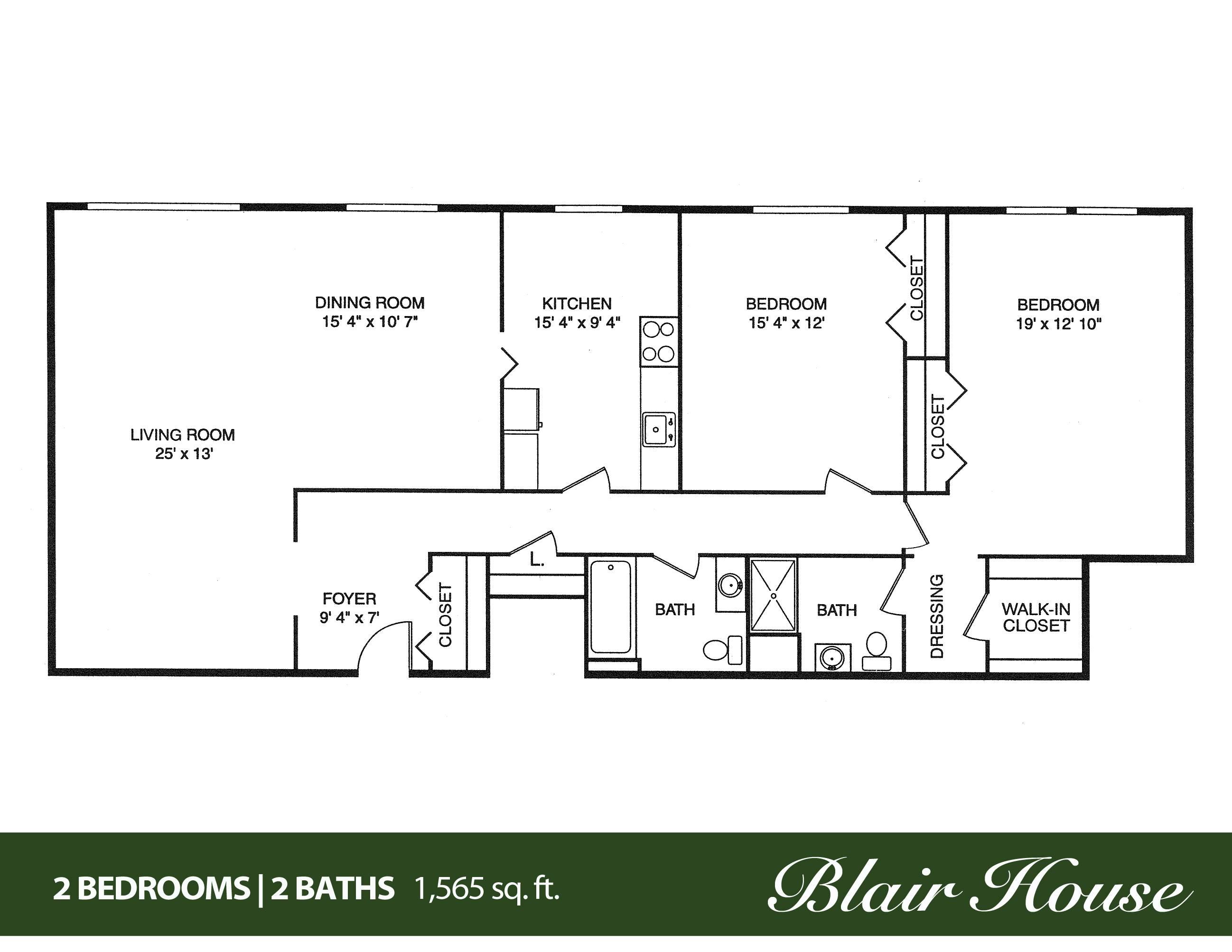 Bedroom Bath House Plans Porch