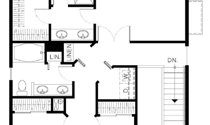 Bedroom Bath House Plans Story