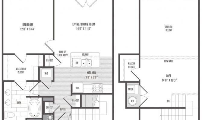 Bedroom Bath Loft House Plans Home Design