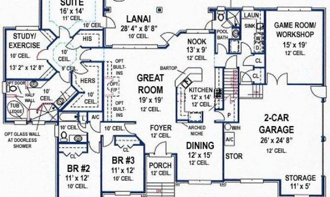 Bedroom Bath Southern House Plan Alp