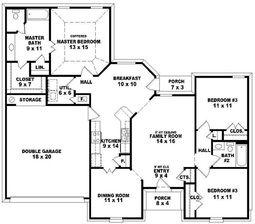 Bedroom Bath Story House Plans Beautiful