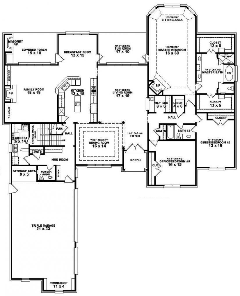 Bedroom Bathroom House Plan Design Plans