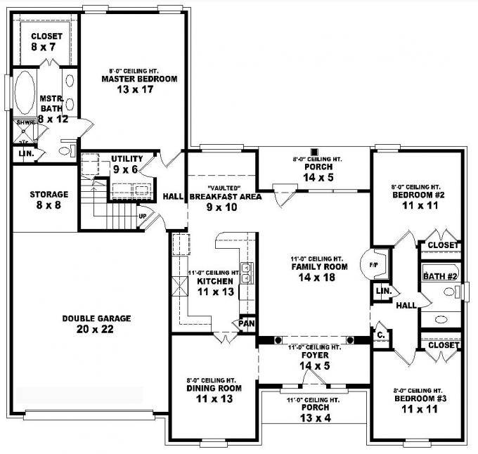 Bedroom Bathroom House Plans Myfamilyliving