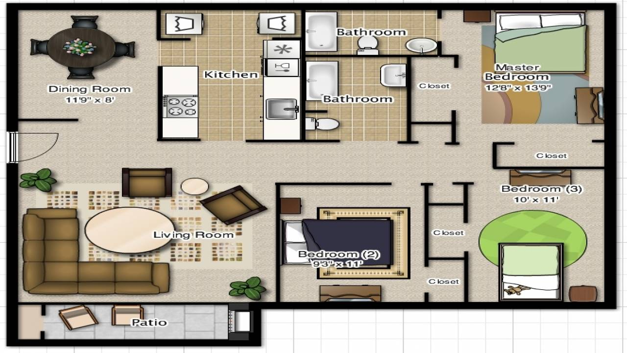 Bedroom Bathroom House Plans