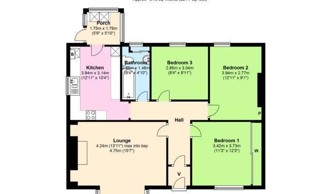 Bedroom Bungalow Floor Plan Plans