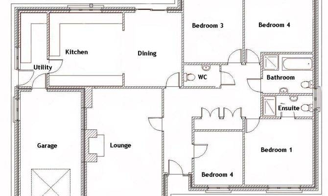 Bedroom Bungalow Ground Floor Plan