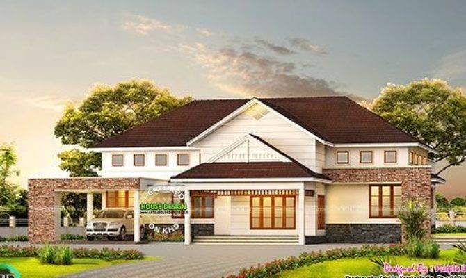 Bedroom Bungalow Home Kerala Design