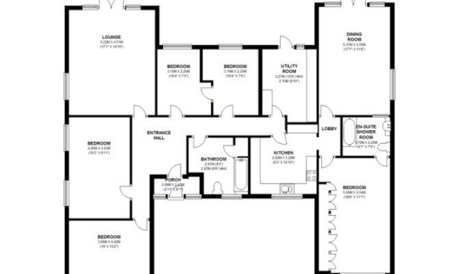 Bedroom Bungalow House Plans Redglobalmx