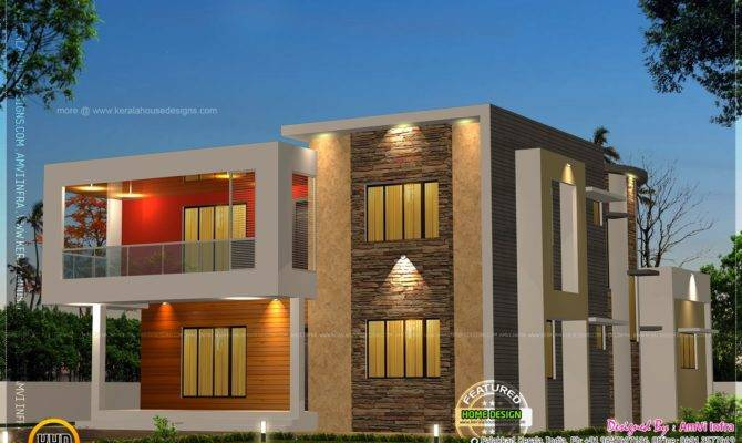 Bedroom Contemporary House Plan Kerala Home