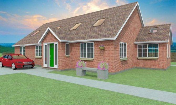 Bedroom Dormer Bungalow Plans Aconbury