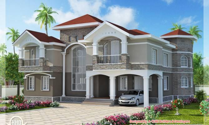 Bedroom Double Floor Indian Luxury Home Design Kerala